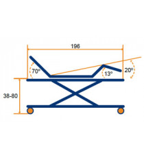 Cama electrica 4 planos tubo fijo