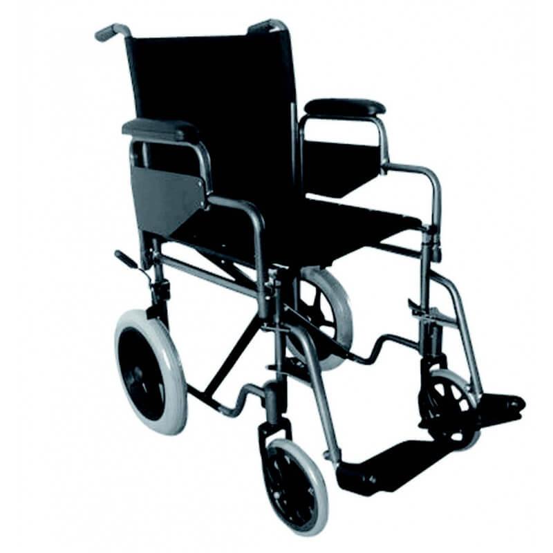 silla de acero rueda pequena