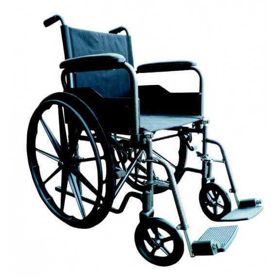 Silla de acero rueda grande