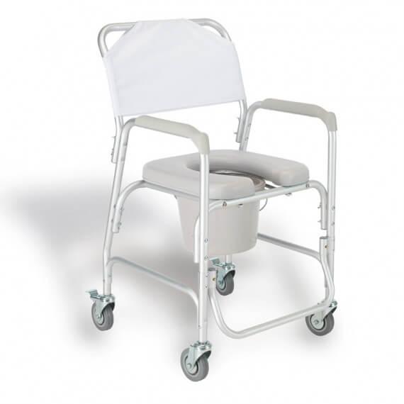 Silla baño aluminio asiento acolchado