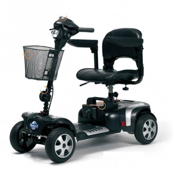 Scooter electrico Venus 4 ruedas