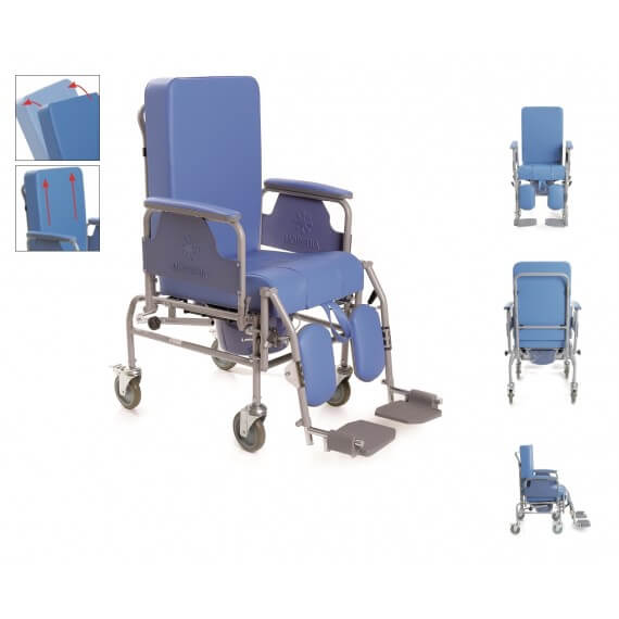 Silla de ruedas inodoro asiento regulable