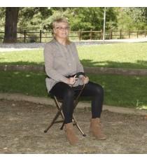 Bastón con asiento 4 patas