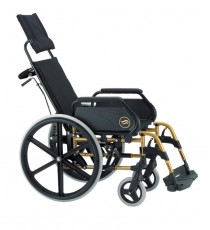 Silla de Ruedas Plegable BR con respaldo reclinable