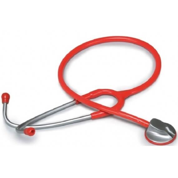 Fonendoscopio Adulto Cabezal Zinc Anodizado Rojo