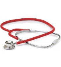 Fonendoscopio Pediátrico Campana Doble Aluminio Rojo