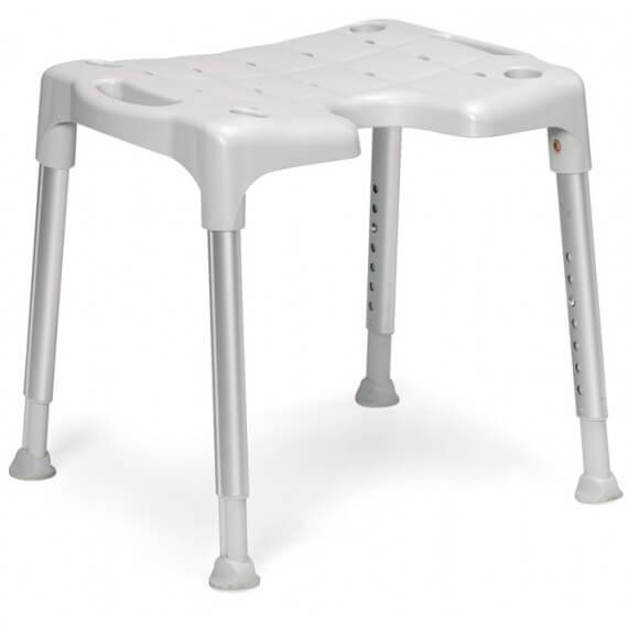 Taburete Baño Swift Blanco 4 Patas Inoxidable Estable
