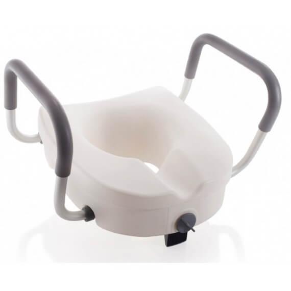 Asiento Elevador WC Plástico Sin Tapa Blanco Apoyabrazos