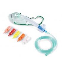 Pack Mascarillas Oxígenoterapia Adultos Antiaplastamiento 6 Válvulas