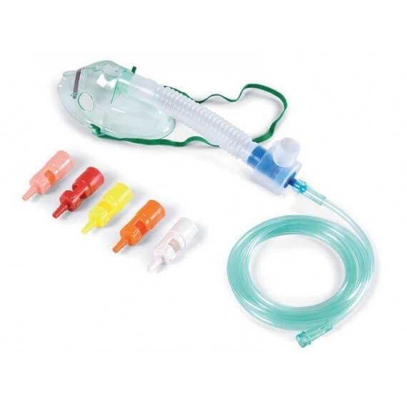 Mascarilla Oxígenoterapia Adultos Antiaplastamiento 6 Válvulas