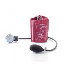 Pack 2 Unidades Tensiómetro Rojo Sin Estetoscopio Bolsa Brazalete Velcro