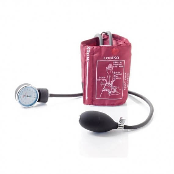 Tensiómetro Rojo Sin Estetoscopio Bolsa Brazalete Velcro