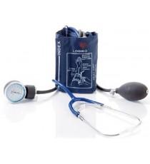 Pack 2 Unidades Tensiómetro Azul Estetoscopio Bolsa Brazalete Velcro