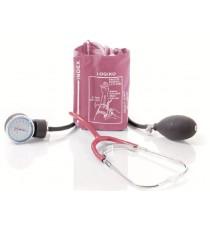 Pack 2 Unidades Tensiómetro Rojo Estetoscopio Bolsa Brazalete Velcro