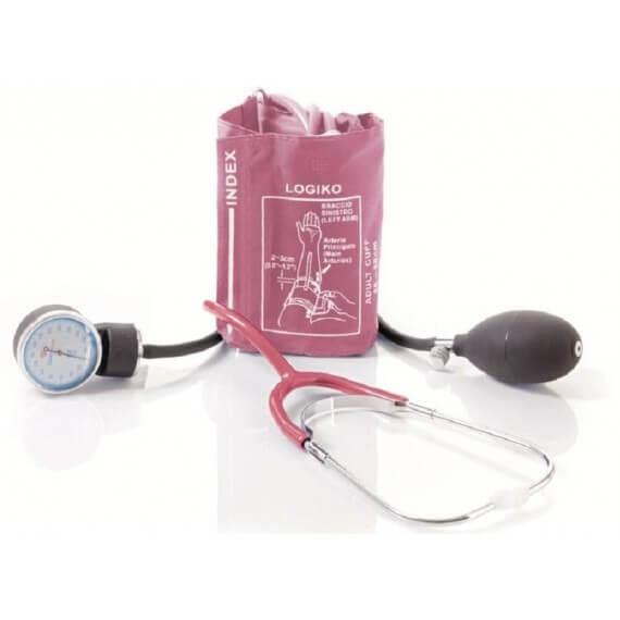 Tensiómetro Azul Estetoscopio Bolsa Brazalete Velcro
