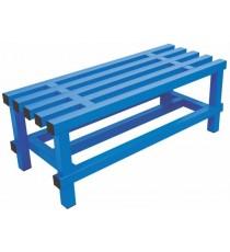 Banco Simple Vestuario 2 Metros Azul Alta Resistencia