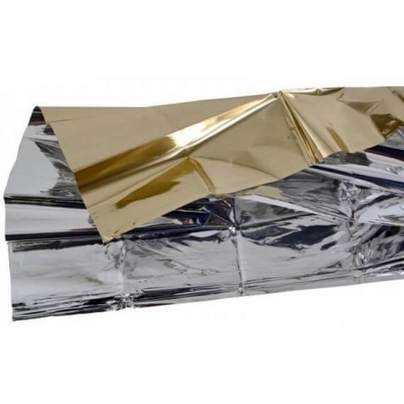 Manta Térmica Oro/Plata Polietileno 210x160CM Frío/Calor