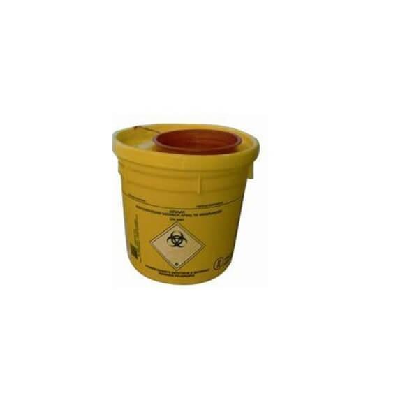 Botella Fungibles 1,5L Amarillo Plástico Biohazard