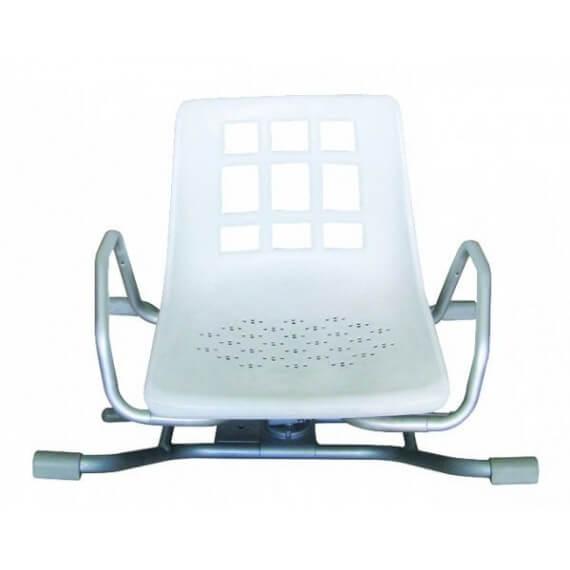 Asiento Giratorio Blanco Aluminio Robusto 100KG