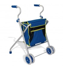 Caminador Lux Aluminio 100KG Regulable Azul 4 Ruedas