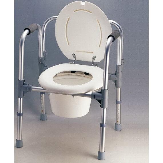 Silla WC 3 EN 1 Blanca Inoxidable 110KG Desmontable