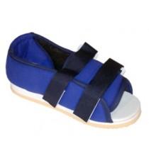 Zapatilla Post Operatoria Azul Acolchada Velcros