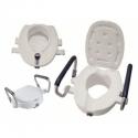 Elevador WC Blanco Apoya Brazos Tapa 10CM