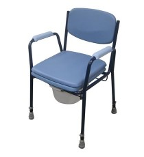 Silla Inodoro WC Azul Acero Regulable Altura 100KG