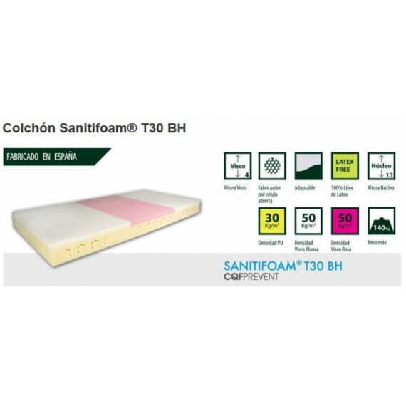 Colchon Antiescaras Sanitifoam T30 BH