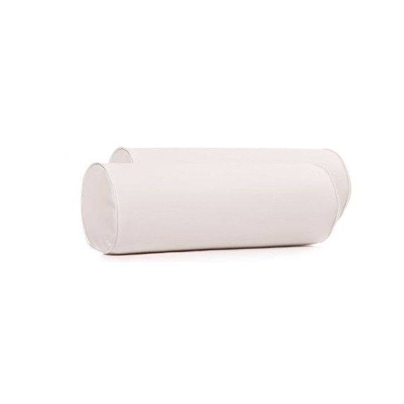 Cojín Tubular Rolling Cushion Blanco 44x17CM Poliester