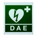 Cartel 1 Cara Pared Verde Símbolo Desfibrilación