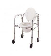 Silla inodoro plegable con ruedas