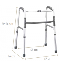 Andador de aluminio plegable Sunrise Medical