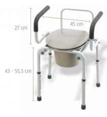 Silla inodoro Sunrise Medical
