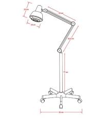 Lámpara Infrarrojos con Regulador de la Intensidad