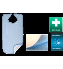 Babero Azul Microfibra Impermeable