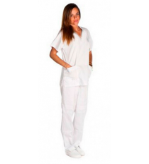 Pantalón Sanitario Blanco Unisex Kinefis