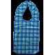 Babero Cuadros 3 Colores Microfibra Impermeable 3 Capas