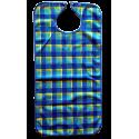 Babero Cuadros Corchete 3 Colores Microfibra Impermeable 3 Capas