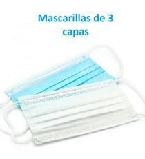 Pack mascarillas 3 capas desechables