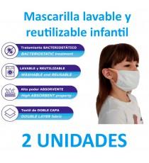 Mascarilla Lavable infantil 2uds