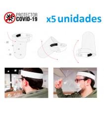 Pack 5 Visera de protección facial abatible