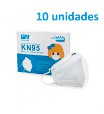 Pack 10 Mascarillas KN95 (FFP2) infantil