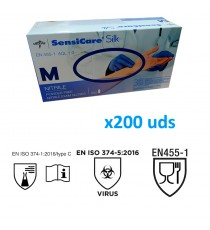 Guantes de nitrilo MEDLINE sin polvo (200uds)