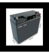 Bateria 22 Amp Scooter Libercar Urban (par)