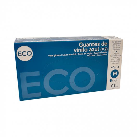 Guantes de vinilo azul ECO Sanicen