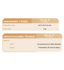 Cojin antiescaras Gel 2D