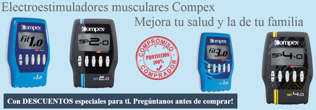 Electroestimuladores musculares Compex
